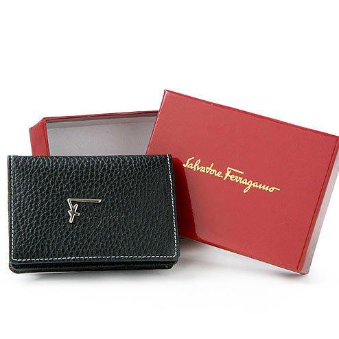 Salvatore Ferragamo F Logo Business/Credit Card Wallet