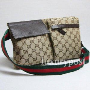 Classic Gucci Unisex Waist Belt Bag 28566