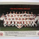 1982 Gulf Oil BALTIMORE ORIOLES Team Picture/ Cal Ripkin, Jr., Eddie Murray