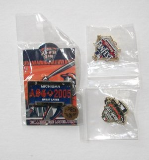 2005 MLB ALL-STAR GAME/ 3 Different Lapel Pins/ DETROIT TIGERS/ Comerica Park