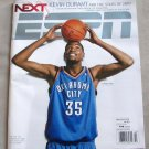 ESPN MAGAZINE Dec 14, 2009/ Kevin Durant Cover/Oklahoma City Thunder