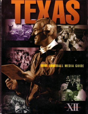 1997 TEXAS LONGHORNS Football Media Guide/ BIG TWELVE CONFERENCE /NCAA Football