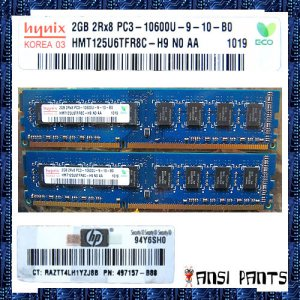 HYNIX 2x2GB 4GB DDR3 PC3-10600 SDRAM 2Rx8 CL9 1333 RAM