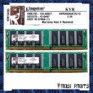 KINGSTON 2x1GB DDR PC2100 SDRAM 2GB 266MHZ RAM MEMORY