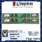KINGSTON 2x1GB DDR2 PC2-3200 SDRAM 2GB 400MHZ LOW RAM
