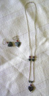 Liquid Silver Necklace and Earring Set