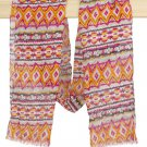 Orange Multi Tribal Printed Scarf