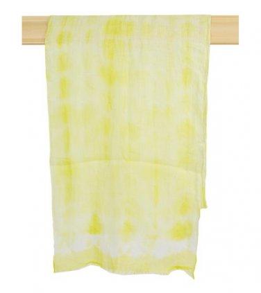 Yellow Tie Dye Scarf