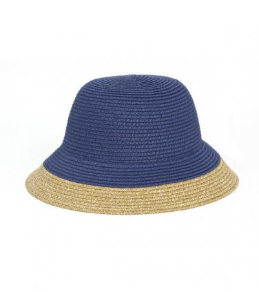 Navy/Tan Two Tone Straw Hat