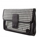 Black & White Houndstooth Clutch