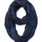 Blue Plaid Infinity Scarf