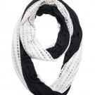 Black Open Dot Infinity Scarf