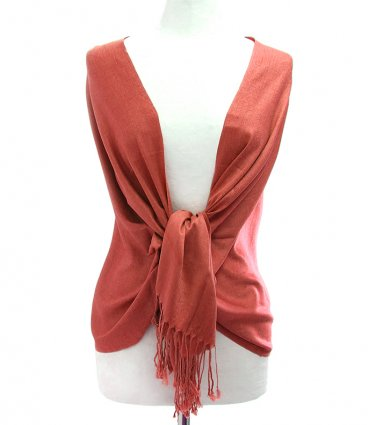 Rusty Red Fringe Pashmina