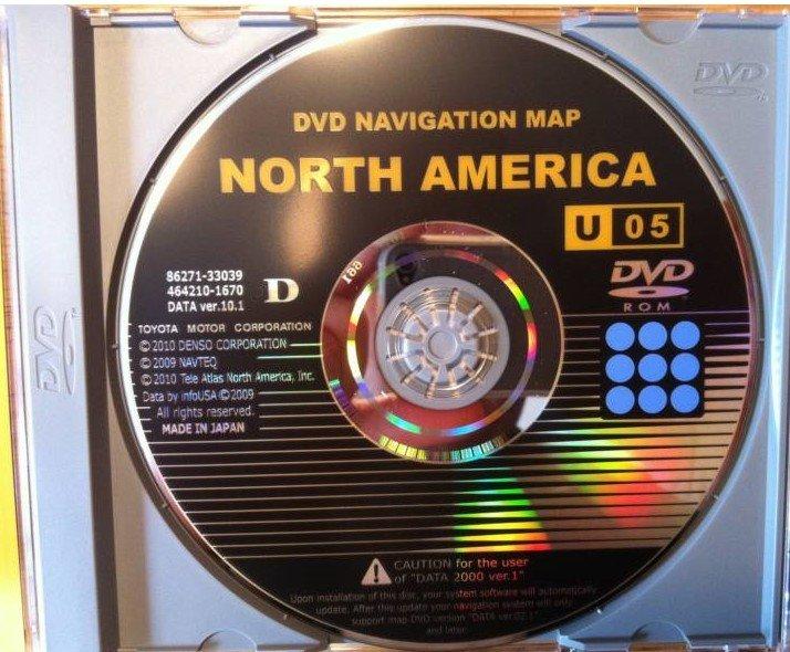 TOYOTA LEXUS NAVIGATION DVD GEN 2/3 GEN2/3 U05 10 1 2010