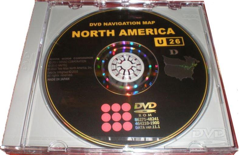 TOYOTA LEXUS OCT-2011 NAVIGATION DVD 11.1 U26 NEWEST MAP UPDATE GENERATION 4 GEN 4 PT219GEN0411