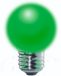 2.5 watt LED Light Bulb for Ceiling Fan or Other Purpose Green Color #LM40F1WE26-G