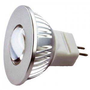 MR11 1 watt GU4 base Equiv to 10W Halogen Bulb Warm White
