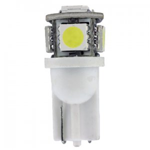 12 Volt.T3 1/4 Wedge Base LED Light Bulb 0.85 Watt Color White - L12V-WB-W