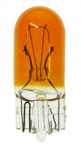 194A T-3 1/4 WEDGE (W2.1X9.5d) 14V .27A 1.5CP PAINTED AMBER GLASS 10pack