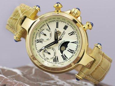 Steinhausen Ladies Marquise Automatic Watch Gold # TW 691 G