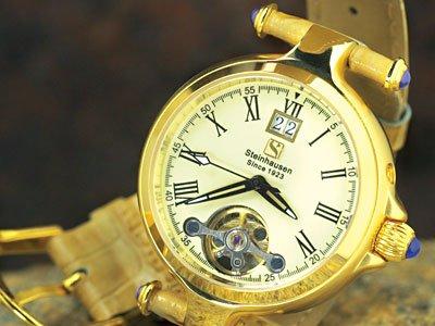 Steinhausen Ladies Marquise Voyager Automatic Gold # TW 693 G