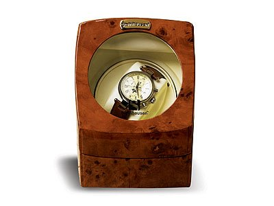 Steinhausen Single Watch Winder w/ Timer(Burlwood) # TM 515 A