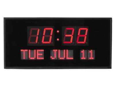 Time Square LED Calender Wall Clock # TL 248 S
