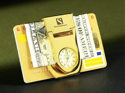 Steinhausen Pocket Clip/Watch (Gold) # TM 498 GW