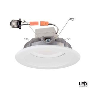 T60 Commercial Electric 6 in. Recessed White LED Trim
