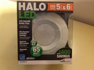 quality design 1683b 8b264 QTY 2 - Halo Recessed RL560WH-R 5 & 6-Inch All-Purpose LED ...