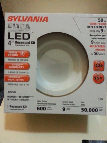sylvania 70643 led rt4 600 830 fl80 4 retrofit recessed led light kit