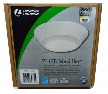 Lithonia Lighting Versi Lite 7 in. White 4000K LED Mini Flush Mount