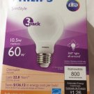 9 Pack - Philips SlimStyle 60W Equivalent Soft White (2700K) A19 Dimmable LED Light