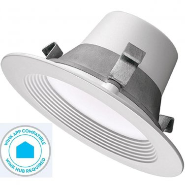 4 Pack - T42 / Commercial Electric 4 in. Matte White Recessed LED Smart Light