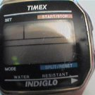 OLD TIMEX ALARM CHRONO QUARTZ LCD WATCH RUNS