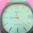 OLD GRUEN DATE QUARTZ WATCH RUNS