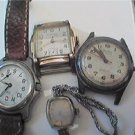 LOT OF 4 UNUSUAL VINTAGE WINDUP QUARTZ WATCHES 4U2FIX