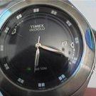STEEL BLUE DIAL TIMEX DATE ALARM WATCH 4U2FIX CROWN
