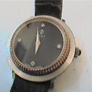 4 STONE BLACK DIAL SWIS KENT LADIES WINDUP WATCH 4U2FIX