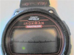 OLD TIMEX TRIALTHALON LCD CHRONO WATCH