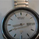VINTAGE SEIKO QUARTZ DAY DATE STEEL WATCH 4U2FIX UNTEST
