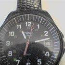 DUAL 12-24HR BLACK DIAL TIMEX DATE WATCH RUNS