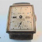 VINTAGE BRUK 17 JEWEL INCABLOC SQUARE WATCH 4U2FIX
