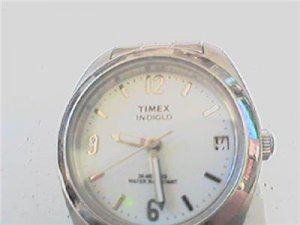 UNIQUE 30M WR LADIES TIMEX INDIGLO DATE WATCH RUNS