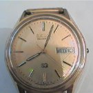VINTAGE UNISEX SEIKO SQ DAY DATE QUARTZ WATCH RUNS 4U2FIX CROWN AND GLASS