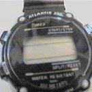 LADIES TIMEX ATLANTIS 100 LCD CHRONO WATCH runs 4u2fix
