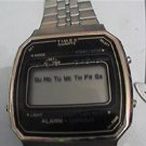 VINTAGE SQUARE TIMEX LCD ALARM CHRONO WATCH UNTESTED