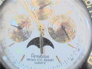 RARE ARMITRON TRIPLE DATE MOON QUARTZ WATCH 4U2FIX