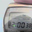 RARE COUNTDOWN SEIKO LCD CHRONO ALARM WATCH RUNS