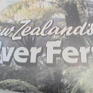 UNUSUAL NEW ZEALAND SILVER FERN PIN EMBLEM WITH CARD